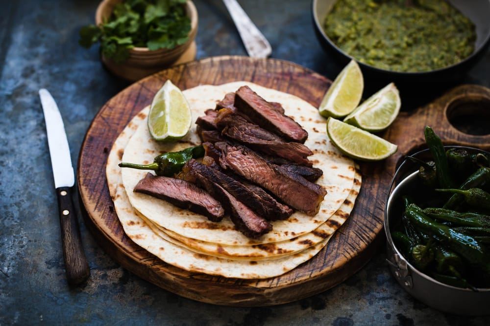 Steak and Hummus Flatbreads